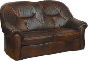 COM-Salvador 2 személyes, fix bőr kanapé