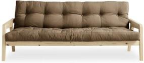 Grab Natural/Mocca kávébarna variálható kinyitható kanapé - Karup Design