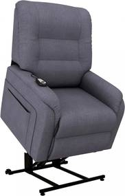 Sötétszürke dönthető/emelhető elektromos szövet tv-fotel