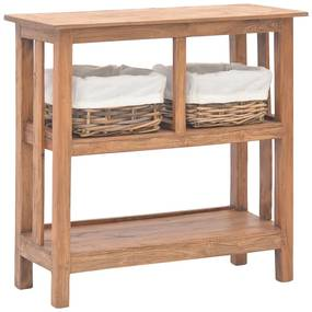 vidaXL újrahasznosított tömör fa tálalóasztal 69 x 28 x 70 cm