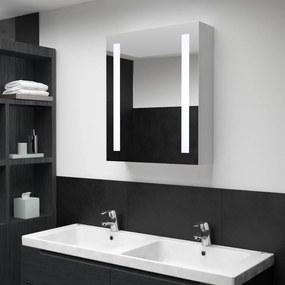 vidaXL tükrös fürdőszobaszekrény LED világítással 50 x 13 x 70 cm