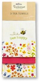 Bee Happy 3 db pamut konyharuha - Cooksmart ®