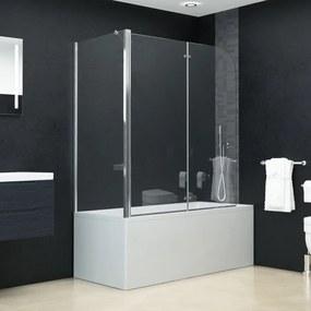 vidaXL ESG zuhanykabin összecsukható ajtóval 120 x 68 x 130 cm