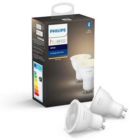 Philips KÉSZLET 2x LED Dimmelhető izzó Philips HUE WHITE GU10/5,2W/230V 2700K P3083