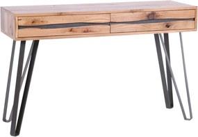 LIVING EDGE tölgy konzolasztal 120cm
