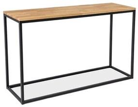 RASOL K konzolasztal, 120x73x36, tölgy/fekete
