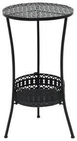 vidaXL fekete fém bisztróasztal 40 x 70 cm