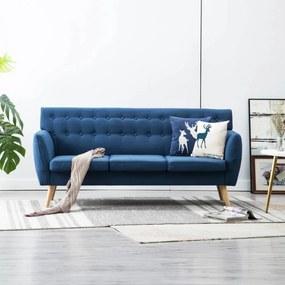 3 személyes kék kárpitos kanapé 172 x 70 x 82 cm