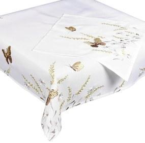 Pillangók abrosz, bézs, 85 x 85 cm, 85 x 85 cm