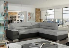 GUISEPPE ágyazható sarok ülőgarnitúra, 250x87x208 cm, sawana 21/soft 011 black, jobbos