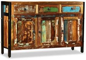 vidaXL tömör újrahasznosított fa tálaló 120 x 35 x 76 cm