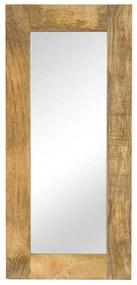 vidaXL tömör mangófa keretű tükör 50 x 110 cm