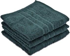 Comfort sötétzöld törölköző