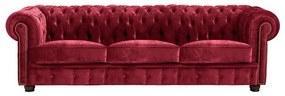 Norwin Velvet háromszemélyes piros kanapé - Max Winzer