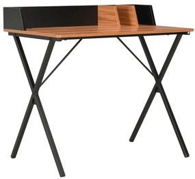 vidaXL fekete és barna íróasztal 80 x 50 x 84 cm