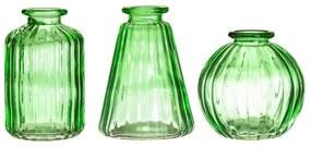 Bud 3 db zöld üvegváza - Sass & Belle