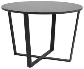 Amble étkezőasztal, fekete márvány mintás, fekete láb, 110 cm