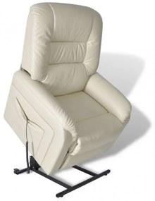 Bézsszínű dönthető műbőr TV-fotel