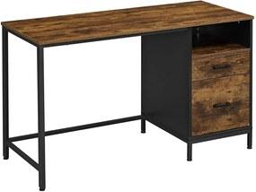 VASAGLE fiókos számítógépasztal, íróasztal íróasztallal