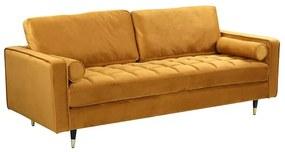 Design ülőgarnitúra Adan 225 cm mustársárga bársony
