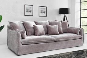 HEAVEN 3 személyes taupe bársony kanapé