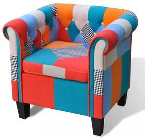 Foltvarrott dizájnú fotel