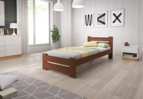 P/ HEUREKA ágy + MORAVIA matrac + ágyrács AJÁNDÉK, 80x200 cm, dió-lakk