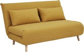 Mustárszínű kinyitható kanapé SPIKE II