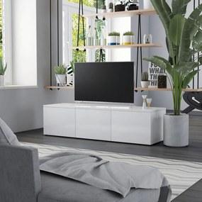 vidaXL magasfényű fehér forgácslap TV-szekrény 120 x 34 x 30 cm