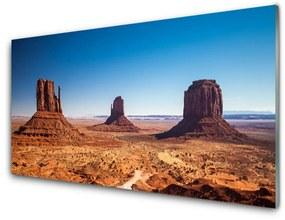 Akrilüveg fotó Desert Hegyi táj 140x70 cm