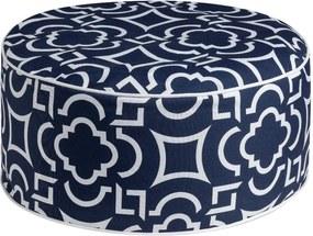 Labyrinth kék puff, ⌀ 53 cm - Brandani