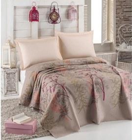 Urla Beige kétszemélyes ágytakaró, 200 x 235 cm