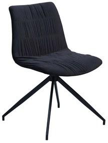 Dazz design szék, fekete bársony, KIFUTÓ!