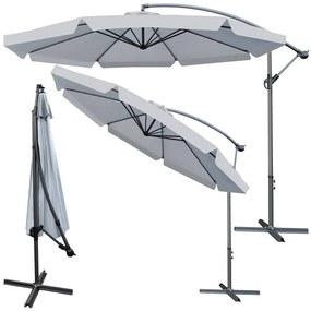 Összecsukható és dönthető kerti napernyő 3 m - szürke