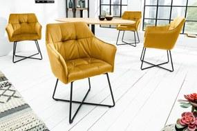 LOFT sárga 100% polyester szék 62x63x86