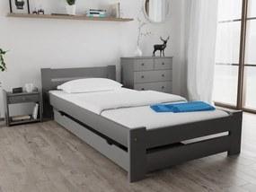 Magnat Ola ágy 90x200 cm, szürke Ágyrács: Lamellás ágyráccsal, Matrac: Matrac nélkül