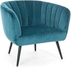 AVRIL pávakék fotel