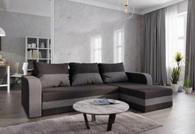 WELTA ágyazható sarok ülőgarnitúra, 237x85x140, fekete/szürke, mikrofáze15/27