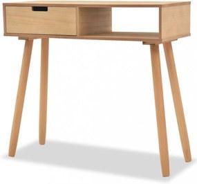 Barna, tömör fenyőfa tálalóasztal 80 x 30 x 72 cm
