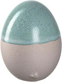 SAVONA kerámia tojás 8cm, zöld - Leonardo
