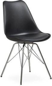 Maze design szék, fekete műanyag