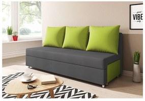 LISA kanapé, szürke+zöld (alova 48/alova 42)