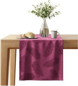 Peacock piros asztali futó bársonyos felülettel, 40 x 140 cm - AmeliaHome