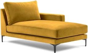 Harmony sárga bársony fekvőfotel, jobb oldali - Kooko Home