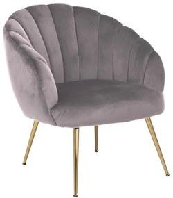 Ízléses fotel Nira - világos rózsaszín