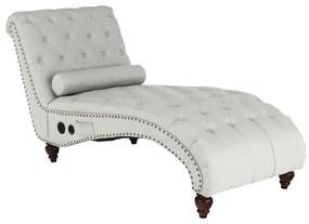 Pihentető fotel Bluetooth-al, világosszürke/sötét dió, GREGOR
