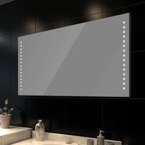 vidaXL fürdőszobatükör LED-fényekkel 100 x 60 cm (Ho x Ma)