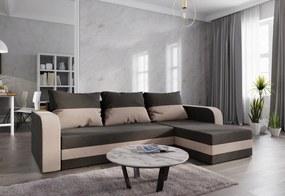WELTA ágyazható sarok ülőgarnitúra, 237x85x140, barna/cappucino, mikrofáze20/48