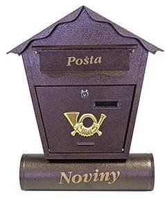 STR postaláda Nestor 450x370x100 mm barna (252243)