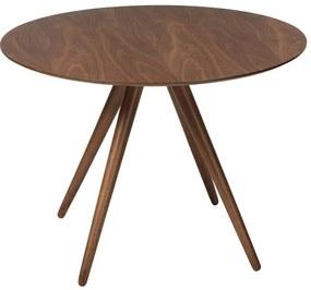 Pheno étkezőasztal, kerek, dió